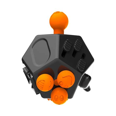 Fidget Spiner With Click Joystick Pen Anti Stress mega fidget cube anti stress anxiety reliever black