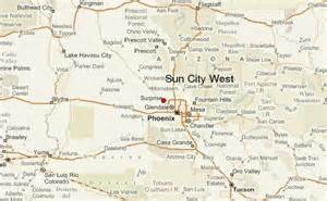 sun city arizona map pin az map on