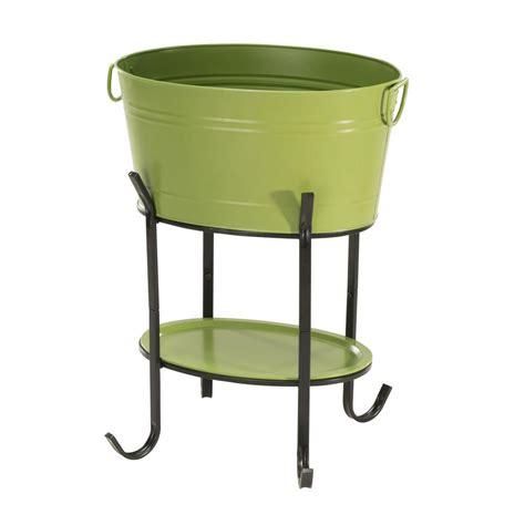 Sunjoy Capri Green Oval Party Tub 111106004 The Home Depot Sunjoy Patio Heater