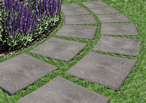 Recycled Rubber Patio Pavers Gardener S Supply 12 Quot X 12 Quot Stomp Stones Recycled Rubber Pavers Drop Stomp Pavers
