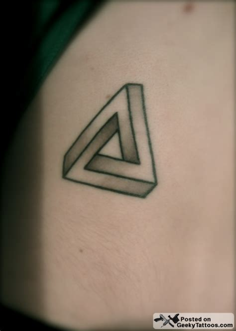 penrose triangle tattoo ink