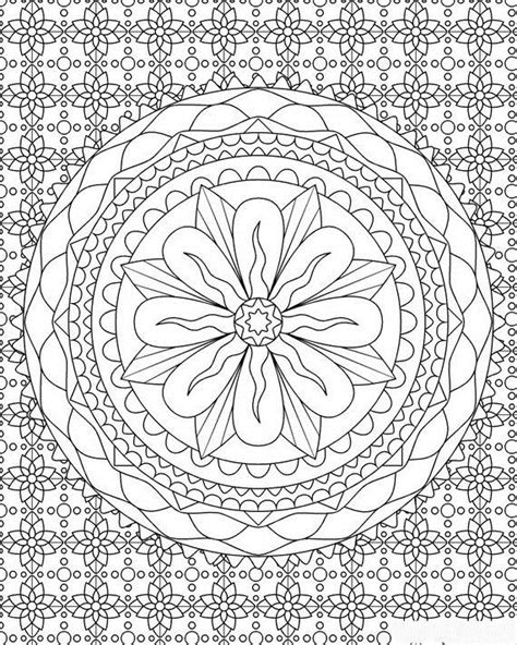 Complex Patterns Coloring Pages Complicated Coloring Pages