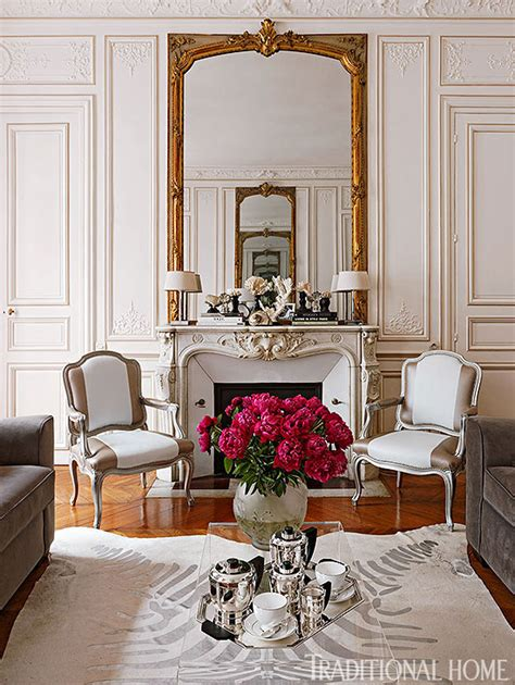 Traditional Home Interiors Living Rooms Colorful And Romantic Paris Apartment Traditional Home