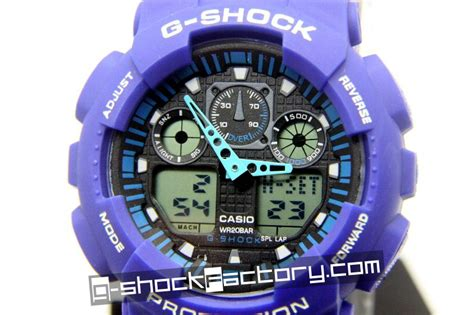 Ga Blue g shock ga 100 blue black wrist by www g