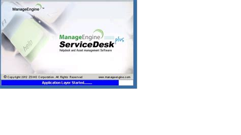 manageengine service desk support manageengine servicedesk does not started
