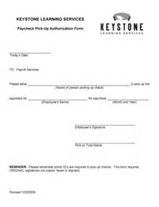 Authorization Letter Last Pay Fillable Online Paycheck Pick Up Authorization Form