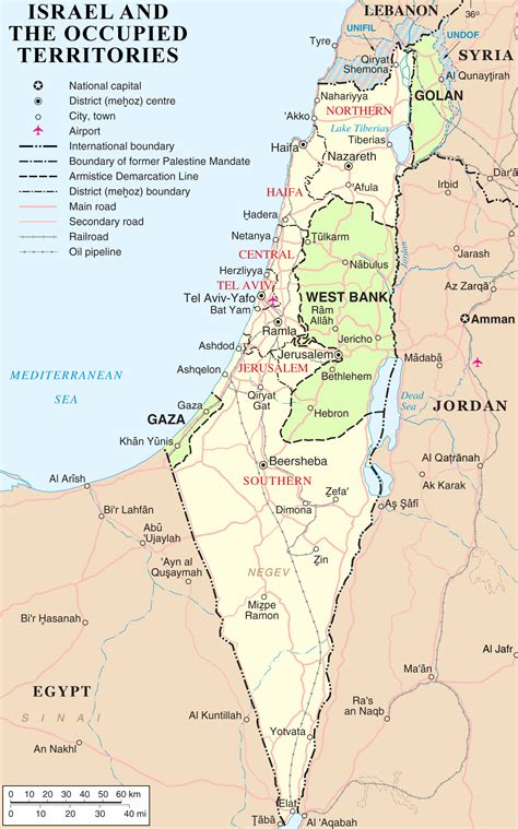 map of isreal file israel and occupied territories map png