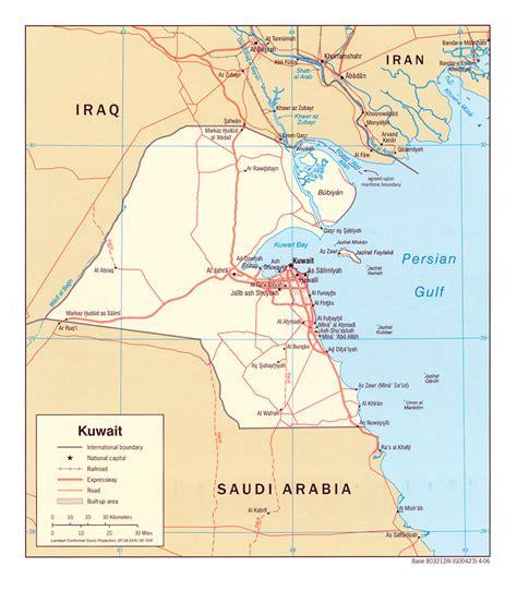 kuwait iraq map kuwait maps perry casta 241 eda map collection ut library