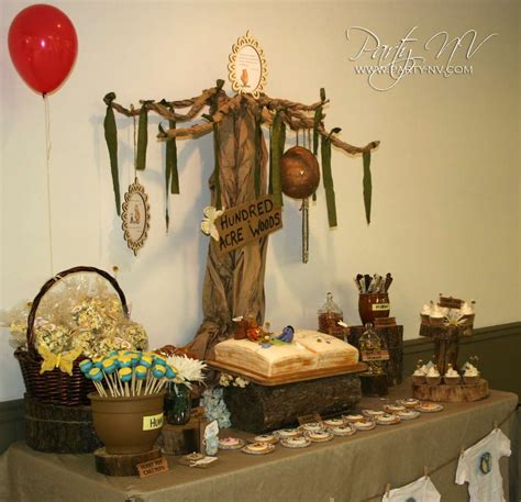party themes classic classic pooh baby shower party ideas photo 11 of 29