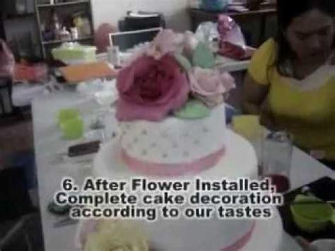 cara membuat kue fondant cara menghias kue dengan fondant dan kursus wedding cake