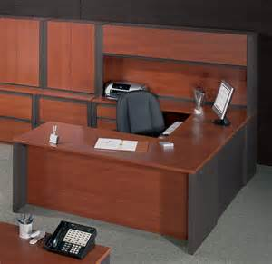 bestar desks bestar prestige u shaped desk and hutch