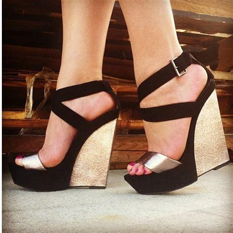 black platform sandals black and gold wedge sandals