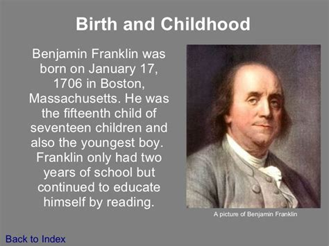 Biography Facts About Benjamin Franklin | biography of benjamin franklin