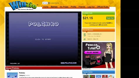 How To Win Money From Youtube - how to win cash prizes playing games on winzie com youtube