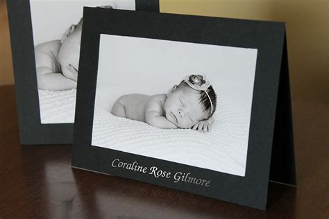 Photo Insert Cards - make custom birth announcements with photo insert cards