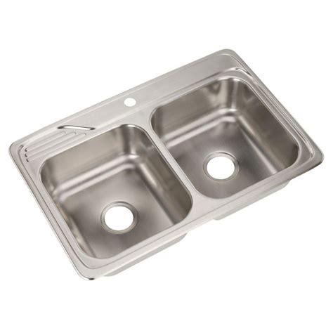Stainless Steel Top Mount Kitchen Sinks Elkay Dayton Elite Top Mount Stainless Steel 33 In 4 Bowl Kitchen Sink Dsemr23322r4