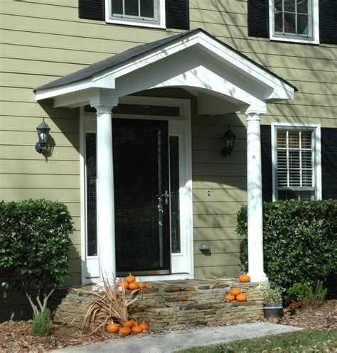 Portico Designs For Front Door Simple Portico For Clapboard Sided Home Designed By Front Porch Porticos With Curb