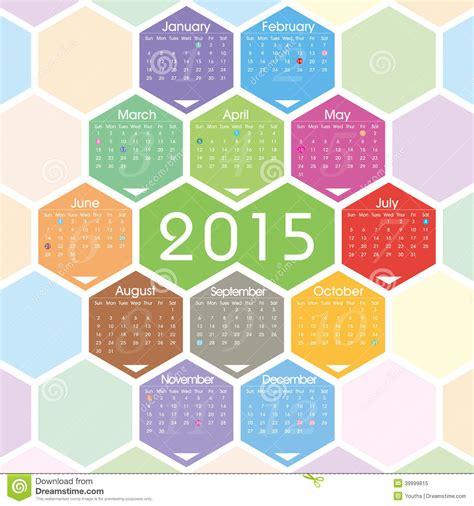 calendar design pattern vector 2015 calendar stock vector illustration of