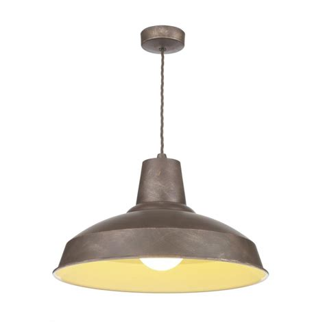 Industrial Ceiling Lighting Reclamation Vintage Style Ceiling Pendant Light Weathered Bronze Finish