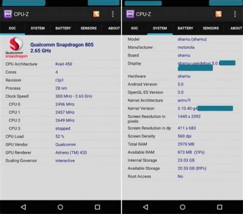 wann kommt neues nexus nexus 6 cpu z screenshots aufgetaucht