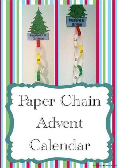 printable advent calendar paper chain free paper chain christmas advent calendar product from