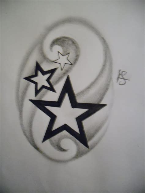 simple star tattoos design by tattoosuzette on deviantart