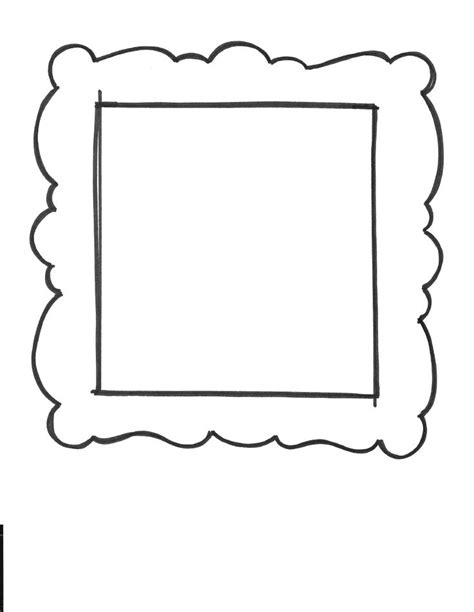 free printable picture frame templates 1000 images about shape templates on dibujo