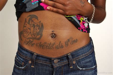 the world is mine tattoo belly tattoos designs pictures
