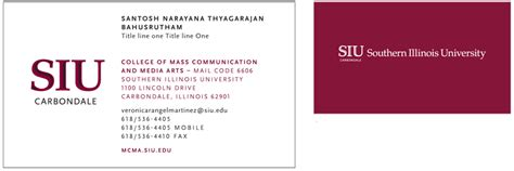 Douglas College Letterhead Standard Business Cards Identity Guidelines Siu