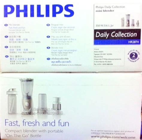 Blender Philips Tahun jual blender philips 4in1 hr2874 bonus filter asli baru