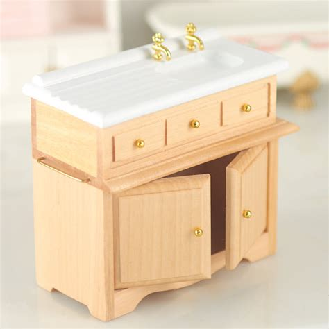 dollhouse kitchen sink dollhouse miniature kitchen sink with oak cabinet