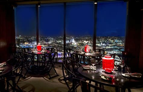 bar at the top of the shard dine with a view in london uk aqua shard restaurant