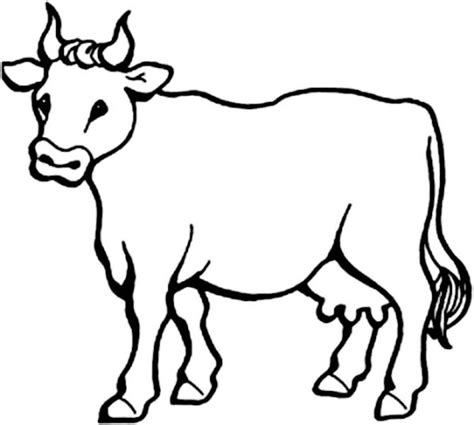 Cow Coloring Page Dr Odd Cow Image To Color