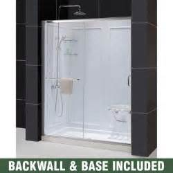 dreamline infinity z 60 in x 76 3 4 in sliding shower