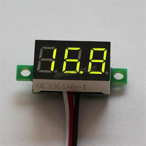 Mini Voltmeter Mini Dc 0 1 30v Led Panel Voltage Meter 3 Digital Display