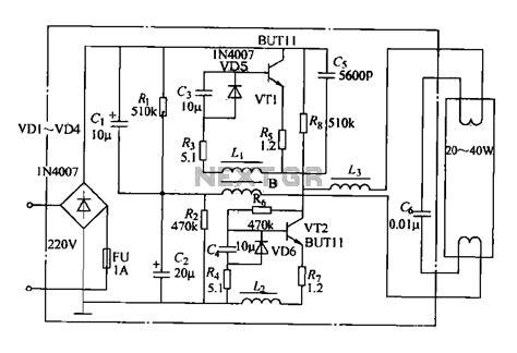 circuit diagram of electronic choke electronic choke circuit diagram for 40w light
