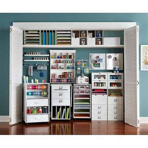Craft Room Closet Storage Ideas by