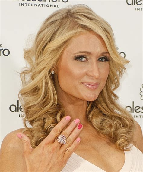 Home Color Trends 2014 paris hilton long curly formal hairstyle medium blonde