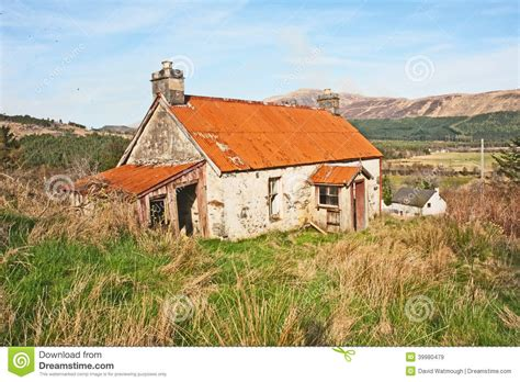 Shed With Porch Plans derelict cottage with iron roof stock image image 39980479