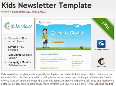 600 Free Email Templates Jumpstart Your Email Design Free Email Newsletter Templates For Outlook