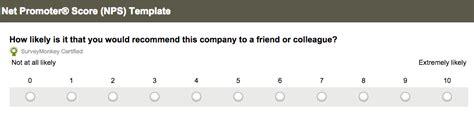 Net Promoter 174 Score Nps Survey Surveymonkey Nps Survey Template