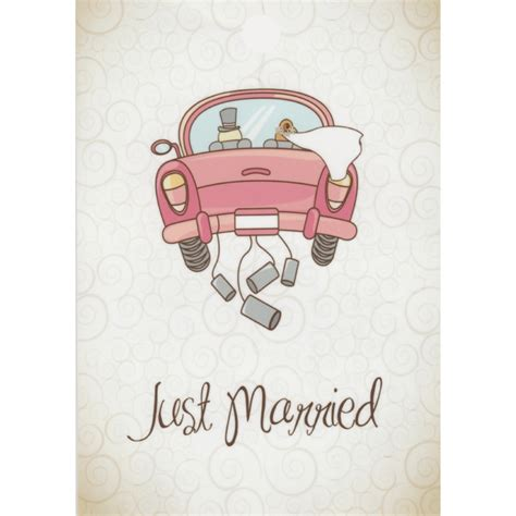 Just Married Auto Bilder by Ballonkarte Just Married Auto Hochzeit Heliumballons Heiraten