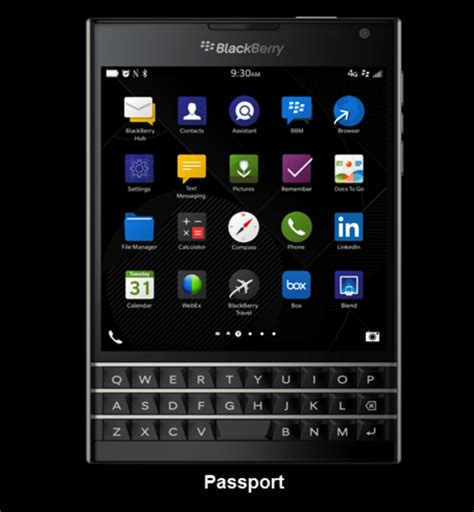 Blackberry Passport Black blackberry unveils a new square phone called the