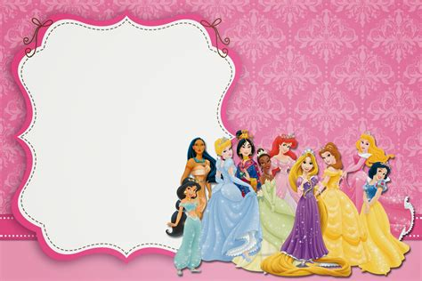 printable birthday invitations disney princess free disney princess party free printable party invitations