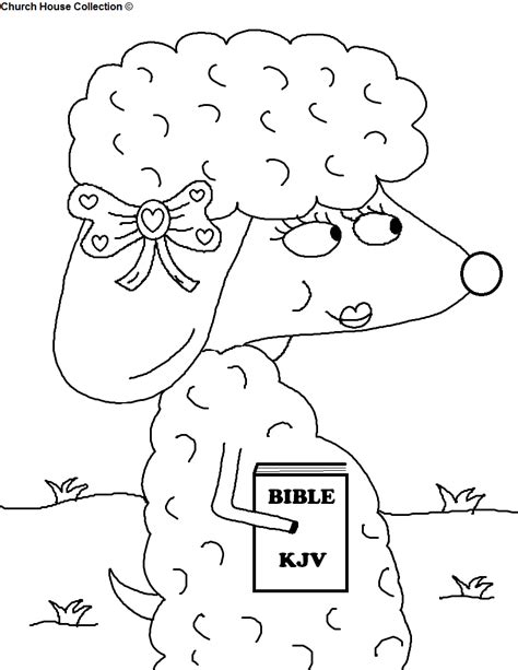 church house collection blog sheep with bible coloring