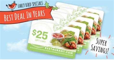 Restaurant Com Gift Cards For Sale - hot 19 value 125 5 pack of 25 restaurant com gift cards