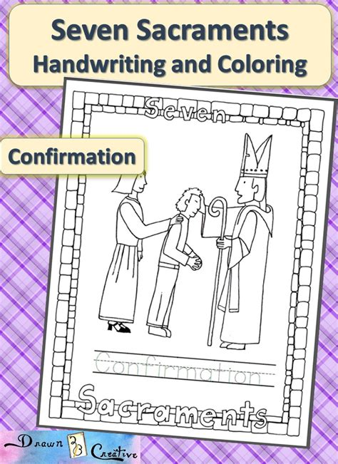 Seven Sacraments For Worksheets by Seven Sacraments Handwriting And Coloring Confirmation