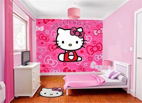 wallpaper hello kitty warna biru gambar wallpaper dinding hello kitty untuk ruang tamu dan