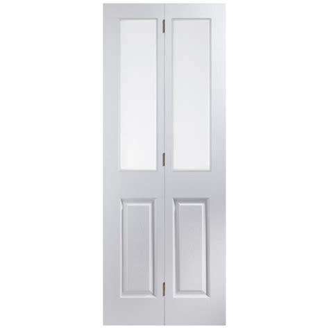 Bi Fold Doors Glass Jeld Wen Bostonian Oakfield White Moulded Clear Glass Bi Fold Door Leader Doors