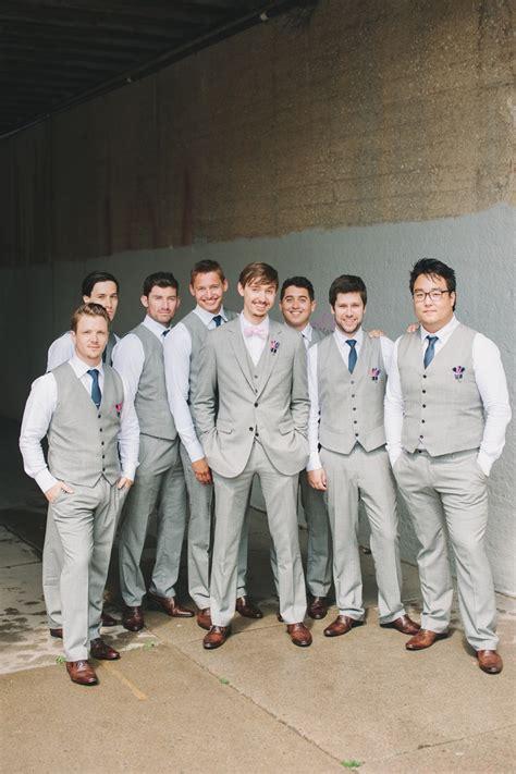 groom groomsmen all were in custom made suits from